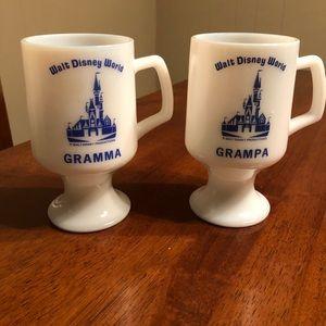 Vintage Disney Gramma and Grampa Mugs(2)